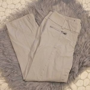 INC khaki stretch capris in 10 petite